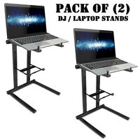 Pack of 2) Pyle PLPTS35 Universal Portable Foldable Professional DJ Laptop Stand