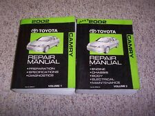 2002 Toyota Camry SE LE XLE V6 Factory Original Shop Service Repair Manual Set