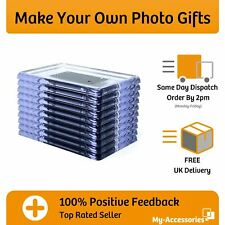 More details for photo fridge magnet blank clear acrylic rectangular insert your own image diy