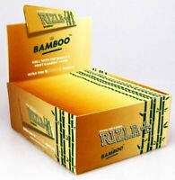 RIZLA BAMBOO KING SIZE TOBACCO Rolling Papers Chemical Free 110mm Ultra Thin NEW
