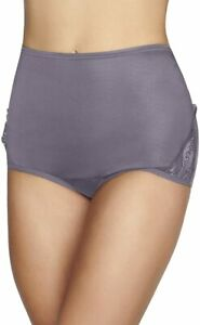 3 pair Vanity Fair DUSTY MAUVE Nylon Brief 13001 Side Lace Panty Size 6,7,8,9