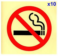 10x75mm NO SMOKING CLEAR Transparent Adhesive Sticker Sign Taxi Bus Car Van Door