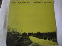 MOSE ALLISON LOCAL COLOR VINYL LP 1958 PRESTIGE PRLP 7121, MONO CARNIVAL, TOWN