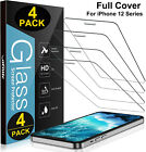 4 Pack iPhone 13 Pro max mini iPhone 12 Pro Max Tempered Glass Screen Protector