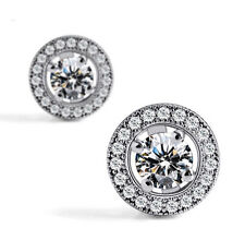 Women's Silver Twist Crystal/Cubic Zirconia/Diamante Zircon Stud Earrings