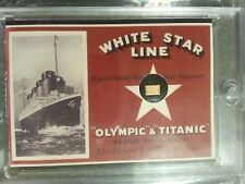 2012 Cult-Stuff RMS TITANIC 100 Year Commemorative AUTHENTIC WOOD RELIC /80