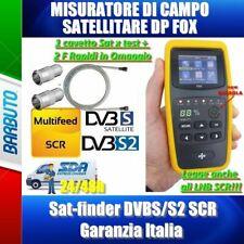 MISURATORE DI CAMPO SATELLITARE DP FOX Sat-finder DVBS/S2 SCR Garanzia Italia