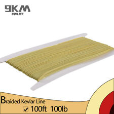100ft 100lbs Braided Kevlar Line String for Fishing Kite Flying Made with Kevlar