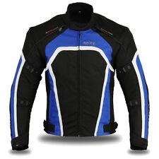 Motorbike Motorcycle Waterproof Racing Cordura Textile Jacket Blue / Black, XL