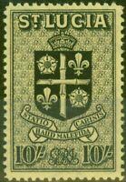 St Lucia 1946 10s Noir-Jaune SG138 V.F MNH