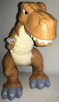 "Fisher Price Imaginext Caveman Dinosaur T-Rex w/Sound & Movement Stands 12"" Tall"