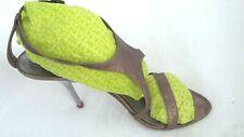 Donna Karan Vintage shoes_ silver metal 1990 design french mules Sz38eu, Us8