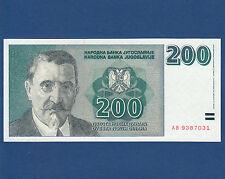 Jugoslavia/YUGOSLAVIA 200 Dinara 1999 UNC p.152a