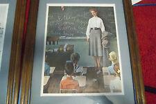 Norman Rockwell The School Teacher wood framed print