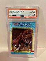 1988 Fleer Sticker Isiah Thomas Detroit Pistons Basketball Card PSA #10