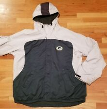 Reebok NFL team apparel green bay packers hooded jacket coat size L large
