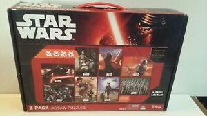 8 PACK JIGSAW PUZZLES STAR WARS THE FORCE AWAKENS 4 SKILL LEVELS 27.5 X 19.5 cm