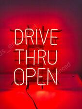 """New Drive Thru Open Bar Light Beer Neon Sign 24""""x20"""""""