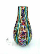 Signed Magnificent Ballarin Murano Multi Coloured Millefiori Murrine Vase