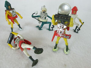 Vintage 1960's lot of 5 Marx Swoppet spacemen astronaut plastic figures