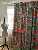 "NINA CAMPBELL single DOOR CURTAIN ""VORONSTOV"" Jacobean ROSES blanket interlined"
