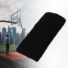 Unisex Cotton Sweat Band Wrist Sweatband Arm Band Basketball Tennis Gym Black 0Z