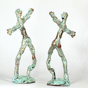 "Kunst Skulptur ""Tänzer"" 25cm Unikat Andreas Loeschner-Gornau"