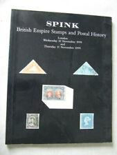 Spink Stamp Auction Catalogue -British Empire & Postal History- Nov 1999 London