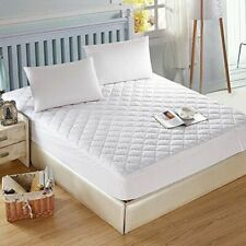 NEW Breathable Waterproof Quilted Mattress Protector Pillow Cover Bed Wet Sheet