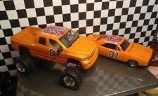 *CUSTOM* Jada 2003 Dodge Ram 1500 Extended Cab Truck Orange 1:24 Dukes tribute