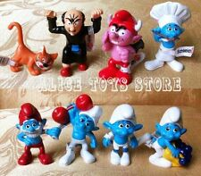 The Smurfs Smurfette Gargamel Azrael Figure Toys Set of 8pcs Figurine Collection