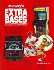 Midway EXTRA BASES Original NOS 1980 Retro Video Arcade Game Promo Sales Flyer