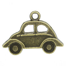 10 Pieces Antique Bronze Car Charms