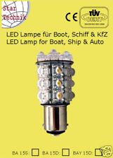20 LED Lampe Superflux BA15 für Positionsleuchte Schiff