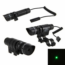 Tactical Hunting Rifle Green Laser Sight Dot Scope Light Gun Adjustable w/ Mount