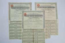CAMP BIRD LIMITED TITRE DE 1 & 5 & 10 ACTIONS DE 10 SCHILLINGS 1938 X 3 ACTIONS