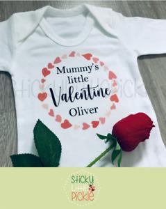 Mummy's Little Valentine baby grow babygrow sleepsuit personalised valentines