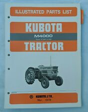 1979 KUBOTA M4000 TRACTOR PARTS MANUAL / 07909-50702