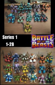 Battle Beasts 1-76 with Weapons Lot Hasbro/Takara 1987 Series 1-3 & Much More