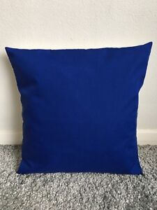 """NEW 22"""" PLAIN ROYAL BLUE CUSHION COVER PILLOW BED SOFA MORE COLOURS SIZES AVAIL"""