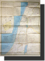 NATIONAL GEOGRAPHIC MAP DOUBLE SIDED LANDS OF THE BIBLE TODAY THE HOLY LAND 1976