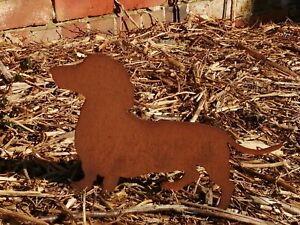 Metal Sausage Dog Garden Ornament
