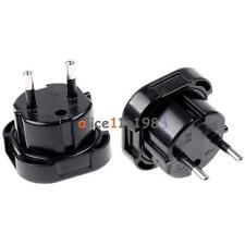 Travel UK to EU Euro AC Power Plug Charger Adapter Socket Converter Universal AL