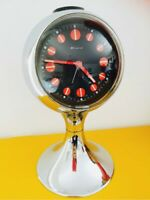 🔴 Orologio vintage anni 70 Space Age base Tulip Orig BLESSING West Germany