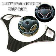 Carbon Fiber ABS Steering Wheel Trim Cover For 2005-12 BMW E90 E92 E93 3 Series
