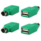 1PCS USB Female in to Male Adapter Converter for PS2 Computer PC Keyboard Mouse