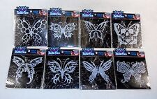 Goth Style Butterfly Window Clings ~ Set of 8 Different Artistic Designs