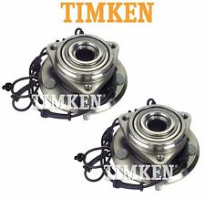 For Jeep Wrangler Pair Set of Front Wheel Bearings & Hubs Timken HA590482