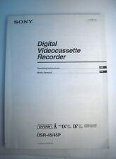 Sony Digital VideoCassette Recorder Operating Instruction DSL-45/45P/ Eng/Fr--M2