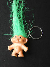 Green Haired LUCKY TROLL DOLL KEYRING/ PENCIL TOPPER NEW